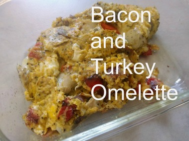bacon and turkey omelette